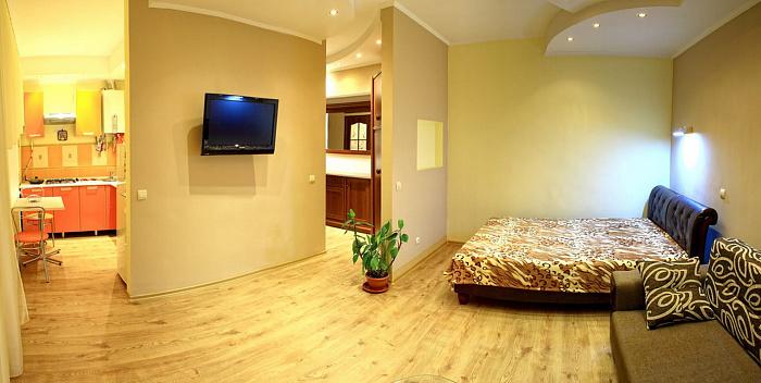 1-комнатная квартира посуточно в Донецке. Ворошиловский район, Университетская , 46. Фото 1