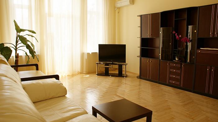2-комнатная квартира посуточно в Киеве. Шевченковский район, Олеся Гончара, 88б. Фото 1