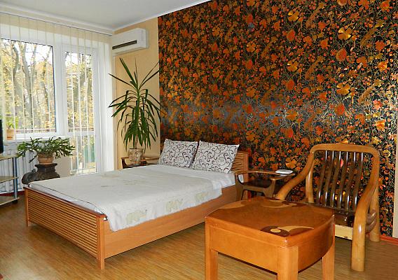 1-комнатная квартира посуточно в Чернигове. Деснянский район, ул. Родимцева, 5. Фото 1