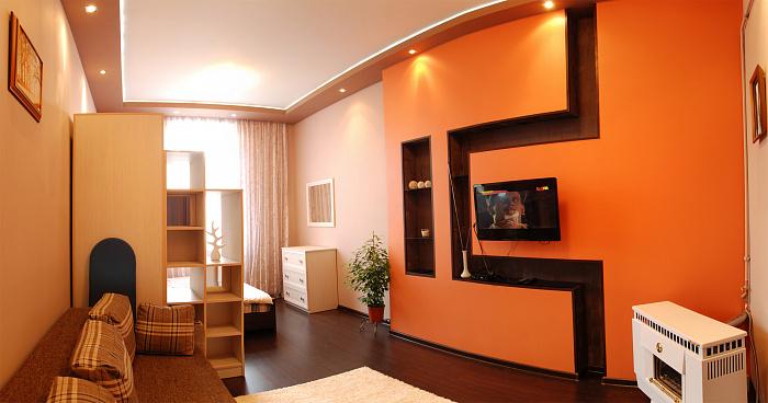 1-комнатная квартира посуточно в Львове. Галицкий район, ул. Ивана Огиенко, 7. Фото 1