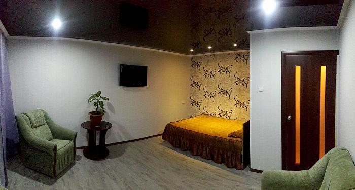 1-комнатная квартира посуточно в Ахтырке. пер. Харьковский, 12. Фото 1